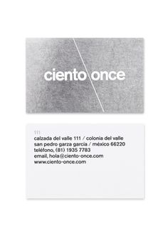 Ciento2 #lines #business #card #layout #minimal #helvetica #typography