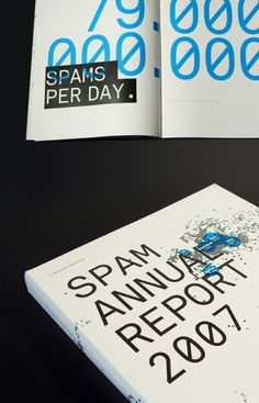spam-report.jpg 450×700 pixels #blue #typo #black #clean