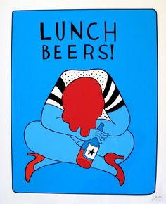 Parra - Lunch_beers_2 #lunch #illustration #beers #parra