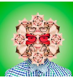 Kaleidoscope of Faces by Norg Nodis