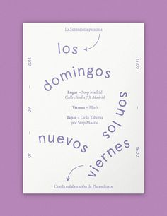 La Vermutería — Episode I on Behance #naranjo—etxeberria #diego #spain #vermut #pop #vermuteria #color #vermouth #tipography #etxeberria #paper #vermu #naranjo #la #up #poster #purple #miguel #colour #naranjoetxeberria
