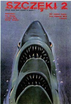 http://damiensaatdjian.tumblr.com/post/3255726947 #polish #movie #jaws #poster #2