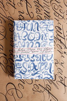 packaging for a birthdaypresent to my father | Flickr - Photo Sharing! #wrap #lettering #pattern #package