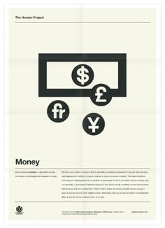 The Human Project (Money) Poster