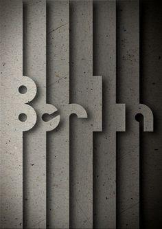 Berlin #poster #typography