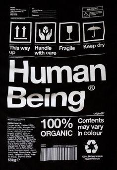 Human Being | AisleOne #human #helvetica #tshirt