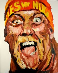 Hulk Hogan : David T. Cho #wrestling #painting