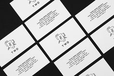 Portfolio : T W O #business #design #graphic #brand #identity #logo #cards