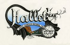 Hallett #mountain #design #colored #illustration #nature #pen #type #pencil #hand #typography
