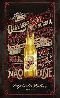 SOL Beer – Chalk and Sign Painting | Abduzeedo Design Inspiration