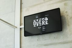 Over and Over Exhibition : Luke Robertson #typography #logo #time #motion #movement #split