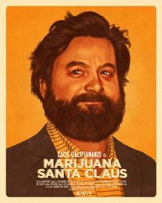 Zach Galifianakis is Marijana Santa Claus - Laughing Squid #zach #claus #marijuana #santa #galifianakis