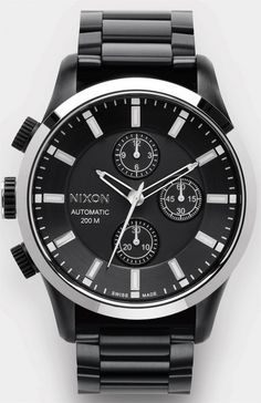 Nixon automatic chrono #black #timepiece #nixon #watch #chronograph