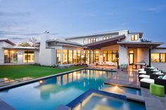 Enchanting Luxury Home Exhaling Elegance and Comfort: The Blanco House #house #home #contemporary #pool #building #architecture #luxury