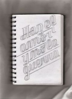Typeverything.com Hand drawn type from Mensajes... - Typeverything #type #lettering