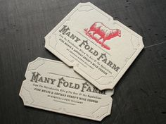 Many Fold Farm Identity | Studio On Fire #design #business cards #letterpress