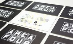 Area Four Restaurant - Business Cards #business #branding #card #design #graphic #brand #identity #stationery