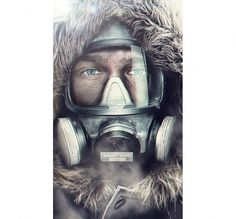Process - Kirill Martianov #photo #cold #mask #manipulation #gas #man #winter