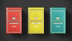 Biscotti, red, yellow, teal, old, vintage, design, package