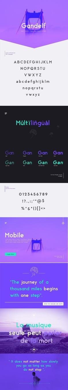 Gandelf – Elegant, Geometric, Clean, Fashionable Sans Serif Font