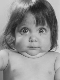 Portrait of baby making a funny face by Constance Bannister Corp #selfie #photography #funny #cute baby #inspiration