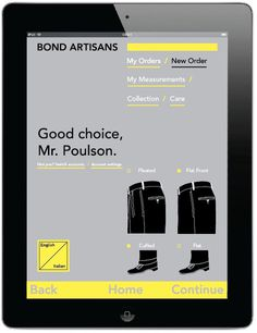Bond Artisans - Charles Poulson Graphic Design #artisan #ipad #italian #iphone #grid #app #order