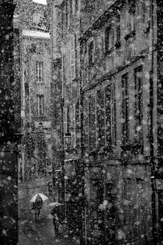 CJWHO ™ (Snow in the city by Hippolyte Auvergne has been...) #auvergne #white #france #black #photography #art #and