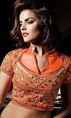Mirror Blouse Design Filled with Thread Work