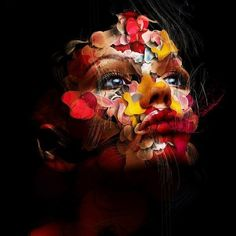Artworks by Alberto Seveso | Cuded #illustration #photography #face #color