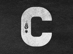 Dribbble - C Brand by Clint McManaman #block #letter #brand #vintage #grunge #logo