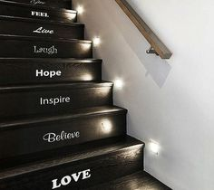 CJWHO ™ (Inspirational Stair Sticker Set) #stickers #design #illustration #art #stairs #gadgets