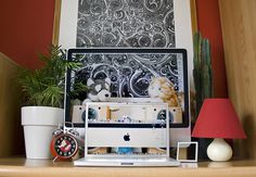 18-52: through and through #workspace #apple #home office #imac