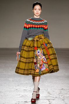 Stella Jean Fall 2015 Ready-to-Wear - Collection - Gallery - Style.com #stella jean #pattern #fashion #runway #traditional #kilt