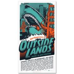 Outside Lands 2008 #orange #shark #aqua #golden gate bridge #sf #outside lands