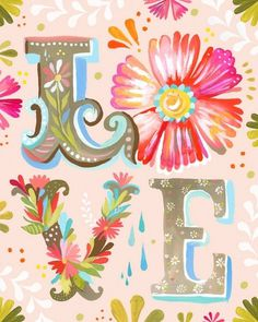 LOVE | Flickr - Photo Sharing! #acrylic #katie #floral #illustration #daisy #watercolor #love #flowers