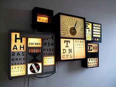 Typographic Lightbox #light box