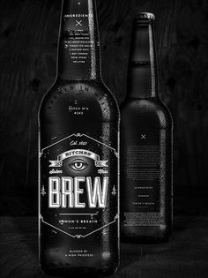 Bitches Brew by Wedge & Lever #brewery #beer #packaging #print #can