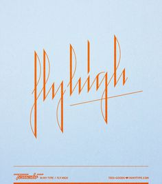 In my type / Base 3•10 on Typography Served #fly #high #typography