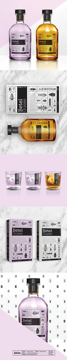 Design by Shanti Sparrow Project Name: BetelGuese Whiskey & Vodka  #Design #graphicdesign #illustration #layout  #typography #branding #pack