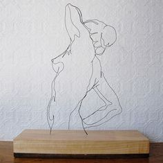 Gavin Worth's Wire Sculptures | Yatzer #gavin worth #wire sculpture #female form