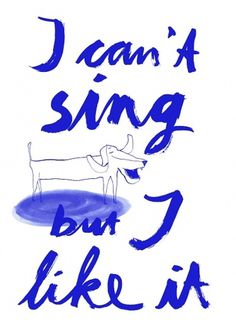 Maria Fischer · Portfolio · Illustration #sing #handlettering #fischer #illustration #maria #dog