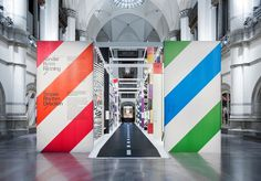 Stripes, Rhythm, Direction — Stockholm Design Lab #interior #bright #stripes #color #large #signage