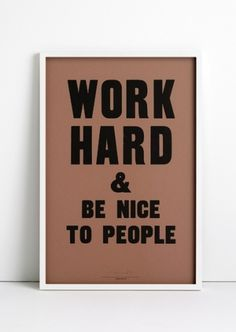ANTHONY BURRILL - WORK HARD #burrill #design #graphic #anthony #poster #typography