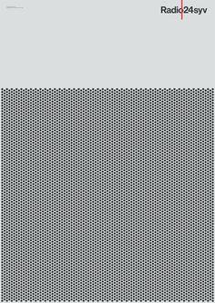 Radio24syv Posters Mega Design #radio #pattern #geometry #dots #poster