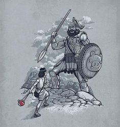 david-and-goliath.jpg (JPEG Image, 580x614 pixels) #illustration #il