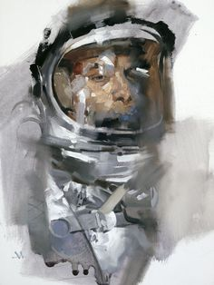 Illustrations by Gregory Manchess #astronaut #space #painting