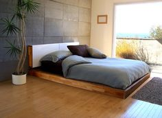 Platform bed by Mash Studios #bedframe #bed