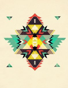 Tribal colours and shapes #shapes #tribal #design #pattern
