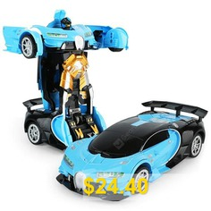 Gesture #Sensing #1:12 #Large #One-button #Deformation #Remote #Control #Car #Toy #- #CORAL #BLUE