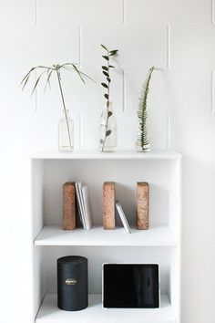Tumblr #interior #brick #white #plants #office #desk #minimal #studio